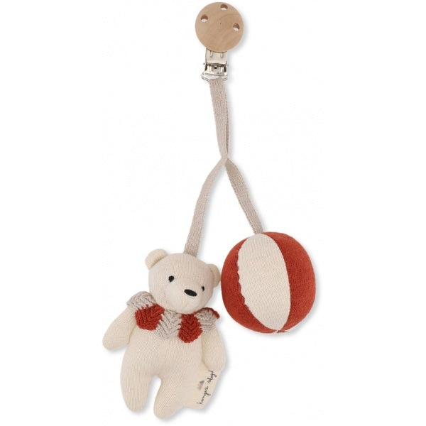 Organic Cotton Bear Clip Toy by Konges Slojd - Multiple Colours