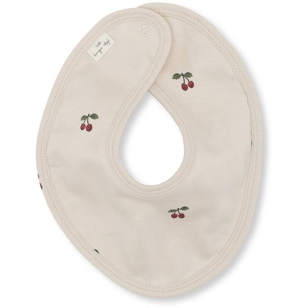 Organic Cotton Bib | Cherry Blush