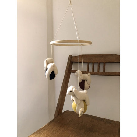 Organic Cotton Rabbits Mobile by Konges Slojd