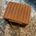 Handwoven Rattan Suitcase in Natural | Medium