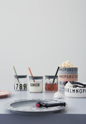 Straw Lid in Black by Design Letters