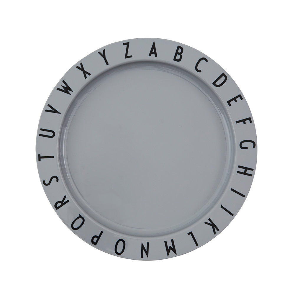 Eat & Learn Tritan Flat Plate in Grey by Design Letters