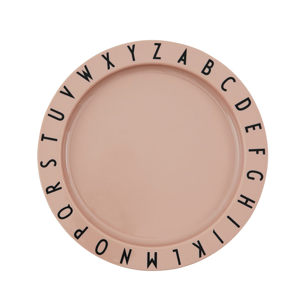 Load image into Gallery viewer, Eat & Learn Tritan Flat Plate in Nude by Design Letters