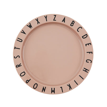 Eat & Learn Tritan Flat Plate in Nude by Design Letters