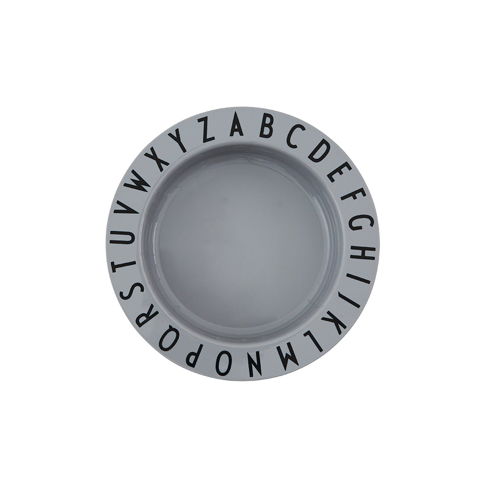 Eat & Learn Tritan Deep Plate in Grey by Design Letters