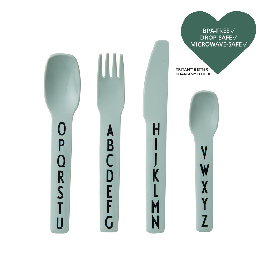 Kids Cutlery in Green by Design Letters