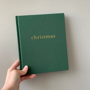 Christmas - Family Christmas Book FOREST GREEN by Write To Me