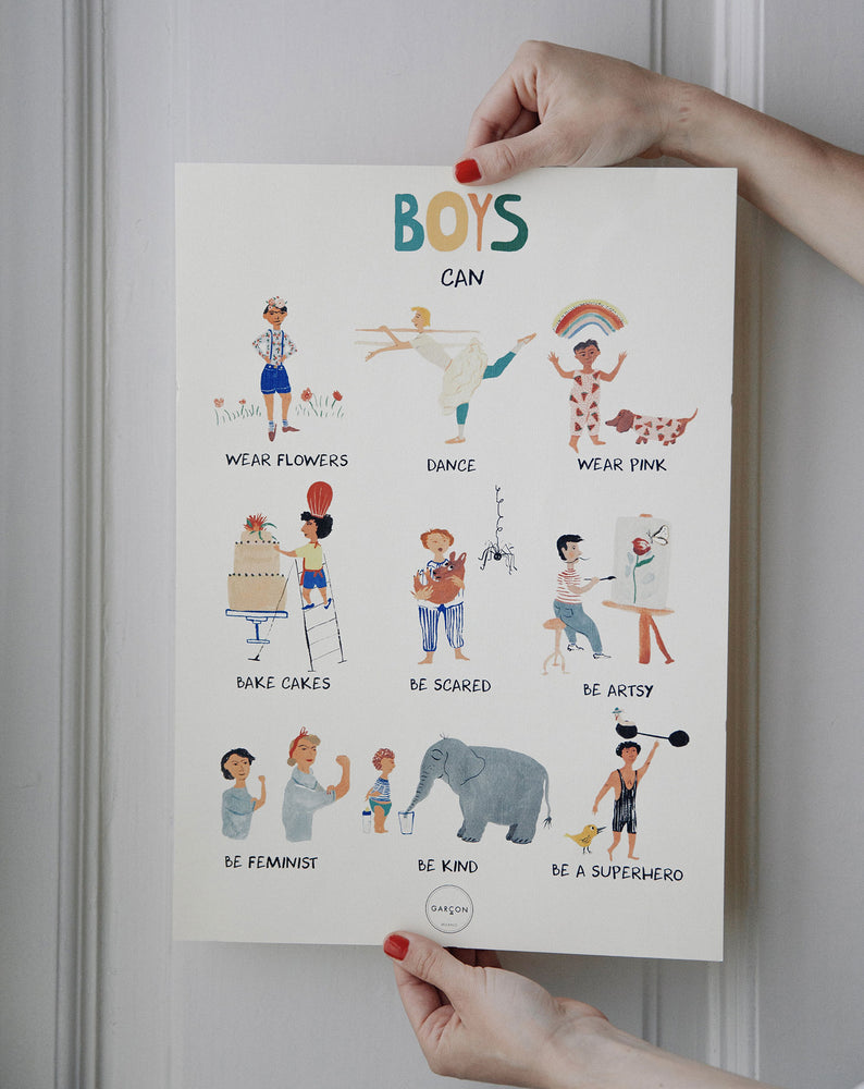 'Boys Can' Poster by Garcon Milano