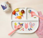 Illustrated Kid Dinner Set | Coral
