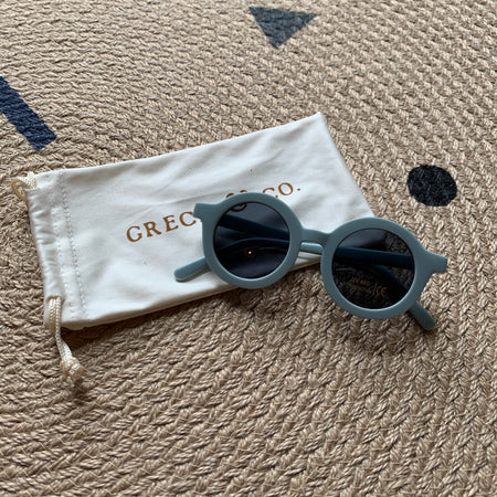 Sustainable Kids Sunglasses with Matte Finish in Light Blue by Grech & Co.