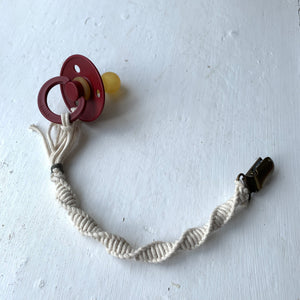 Macrame 100% Organic Cotton Braided Pacifier Clip By Oh Dubidu