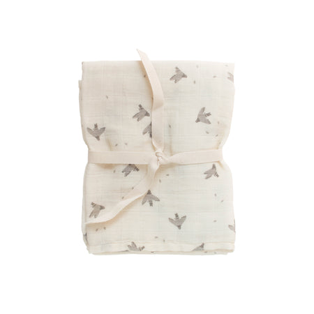 Pigeons Muslin Swaddle Blanket by Main Sauvage