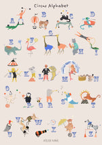 Circus Alphabet Poster by Atelier Mave