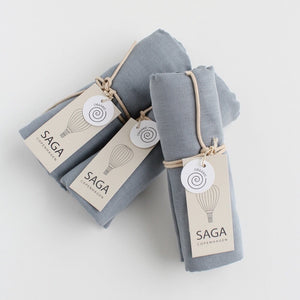 Load image into Gallery viewer, Organic Swaddle in Quiet Blue by SAGA Copenhagen