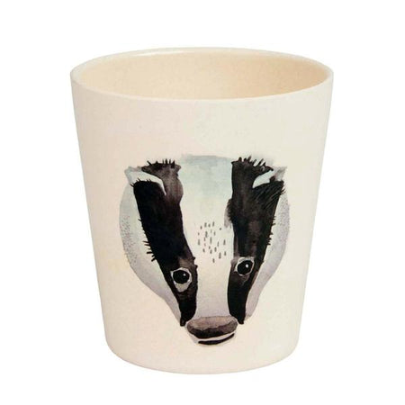 Bunny and Badger Bamboo Cup by Nuukk
