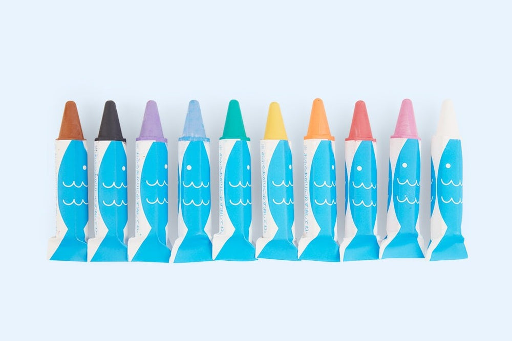 Load image into Gallery viewer, Bath Crayons Set 10 Colours with Sponge