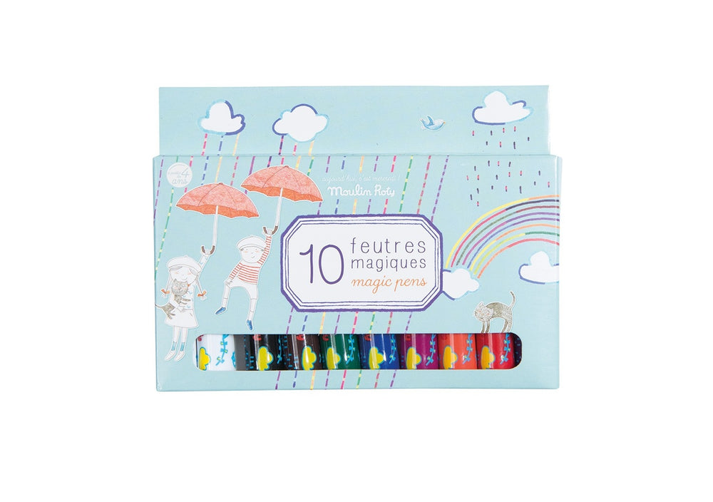 Box of 10 Magic Felt Pens
