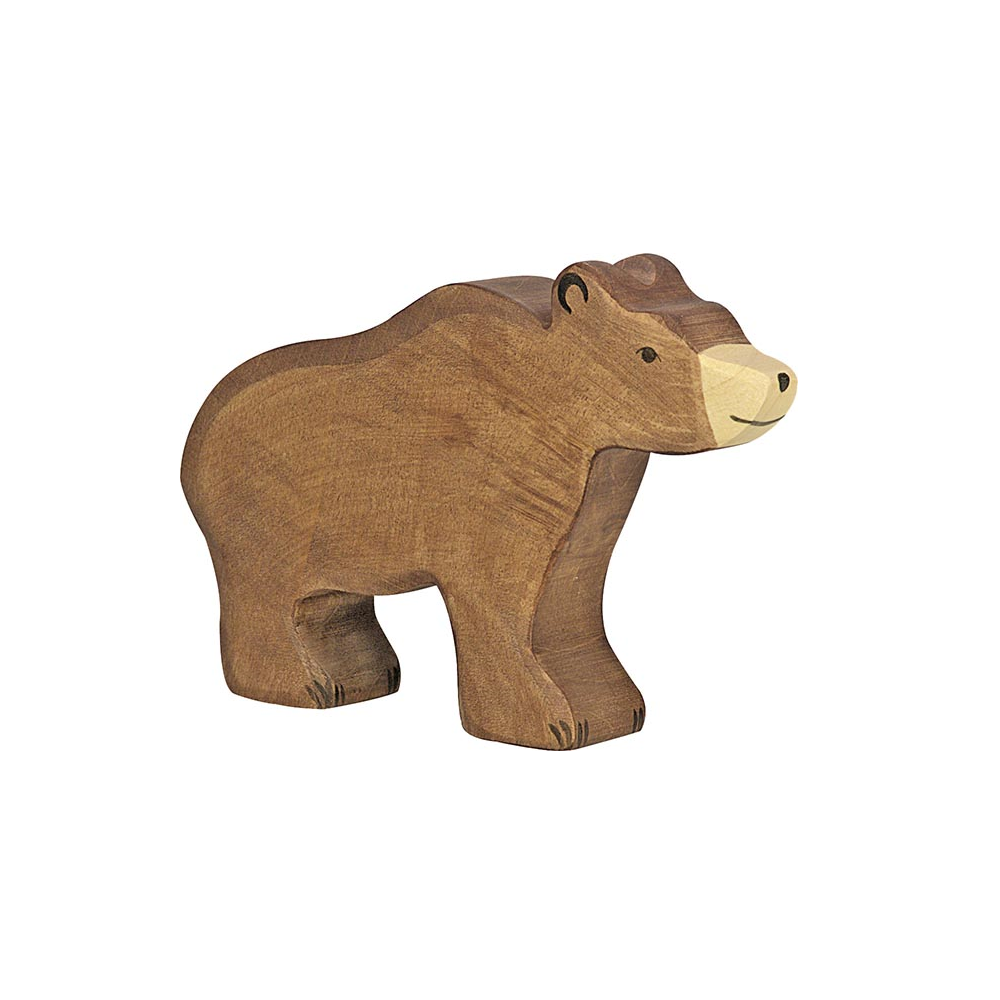 Brown Bear Wooden Figure by Holztiger