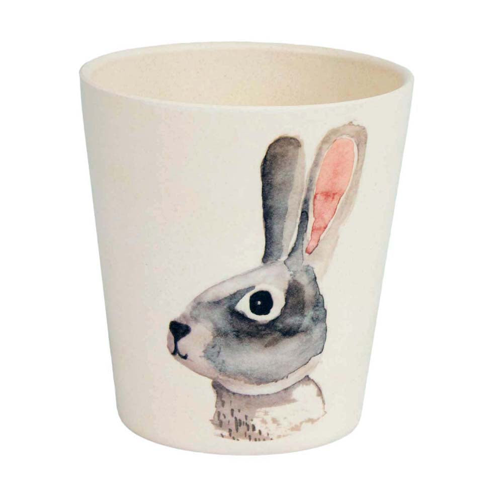 Bunny and Badger Bamboo Cup