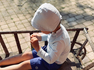 Load image into Gallery viewer, FALKO Protective Sun Hat | Ash Blue