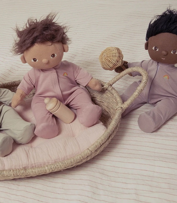 Dinkum Doll PJS in Blush
