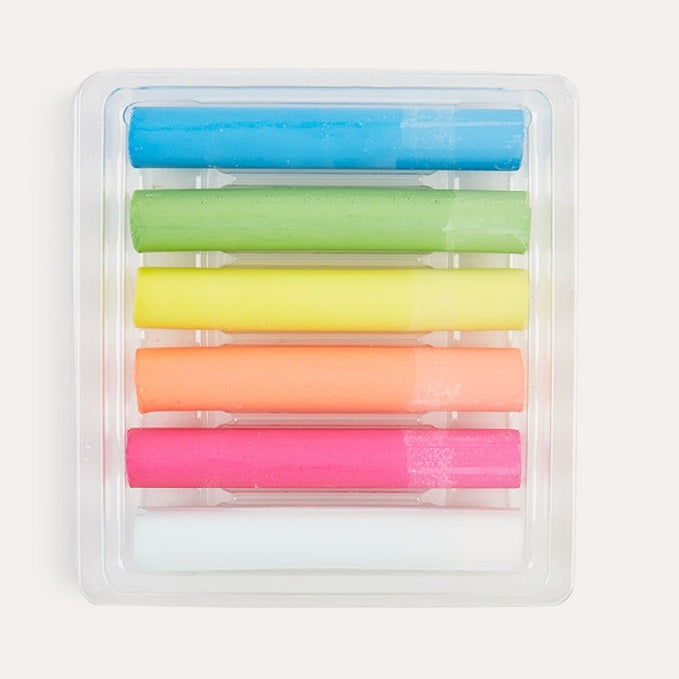 Load image into Gallery viewer, Dustless Chalk Set of 6 - Neon Colour by Kitpas