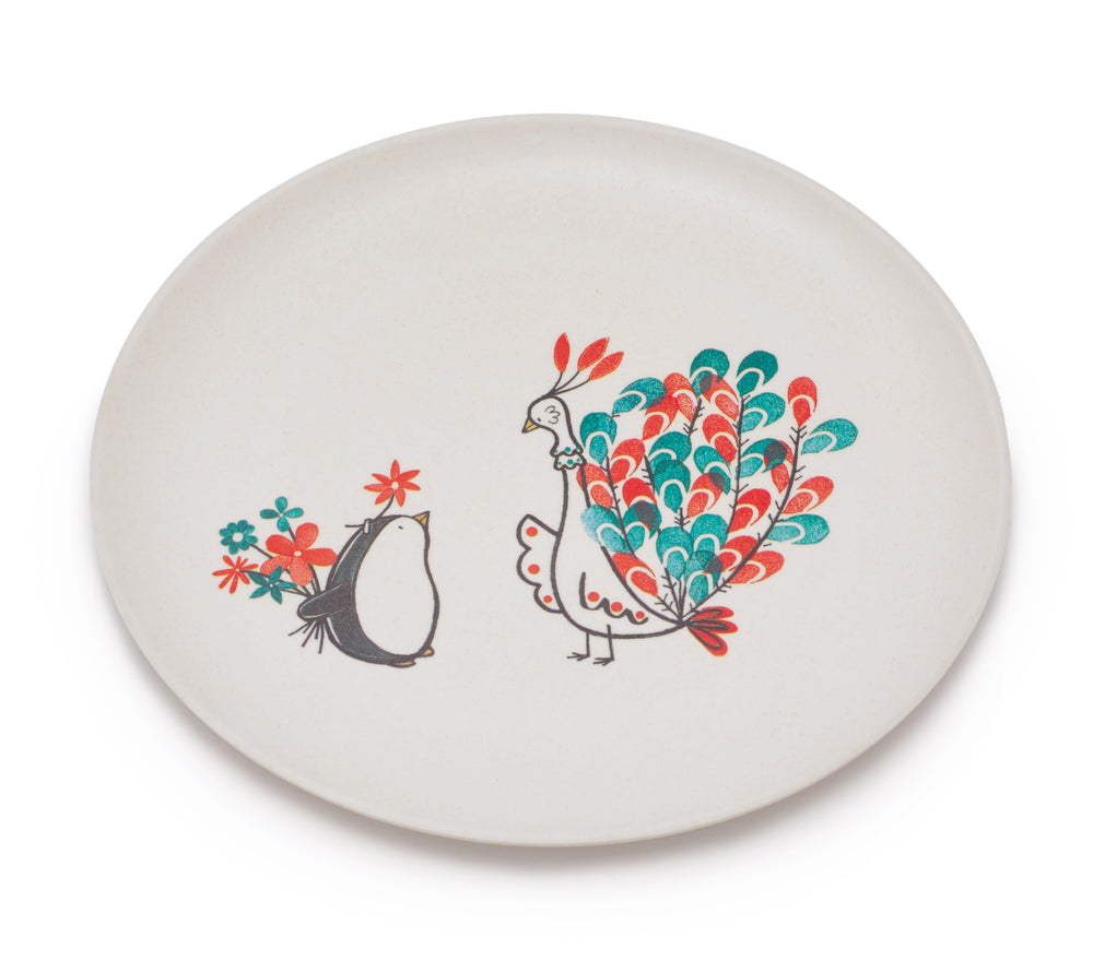 Secret Flowers Bamboo Plate by Fable ILLUSTRATED COLLECTION