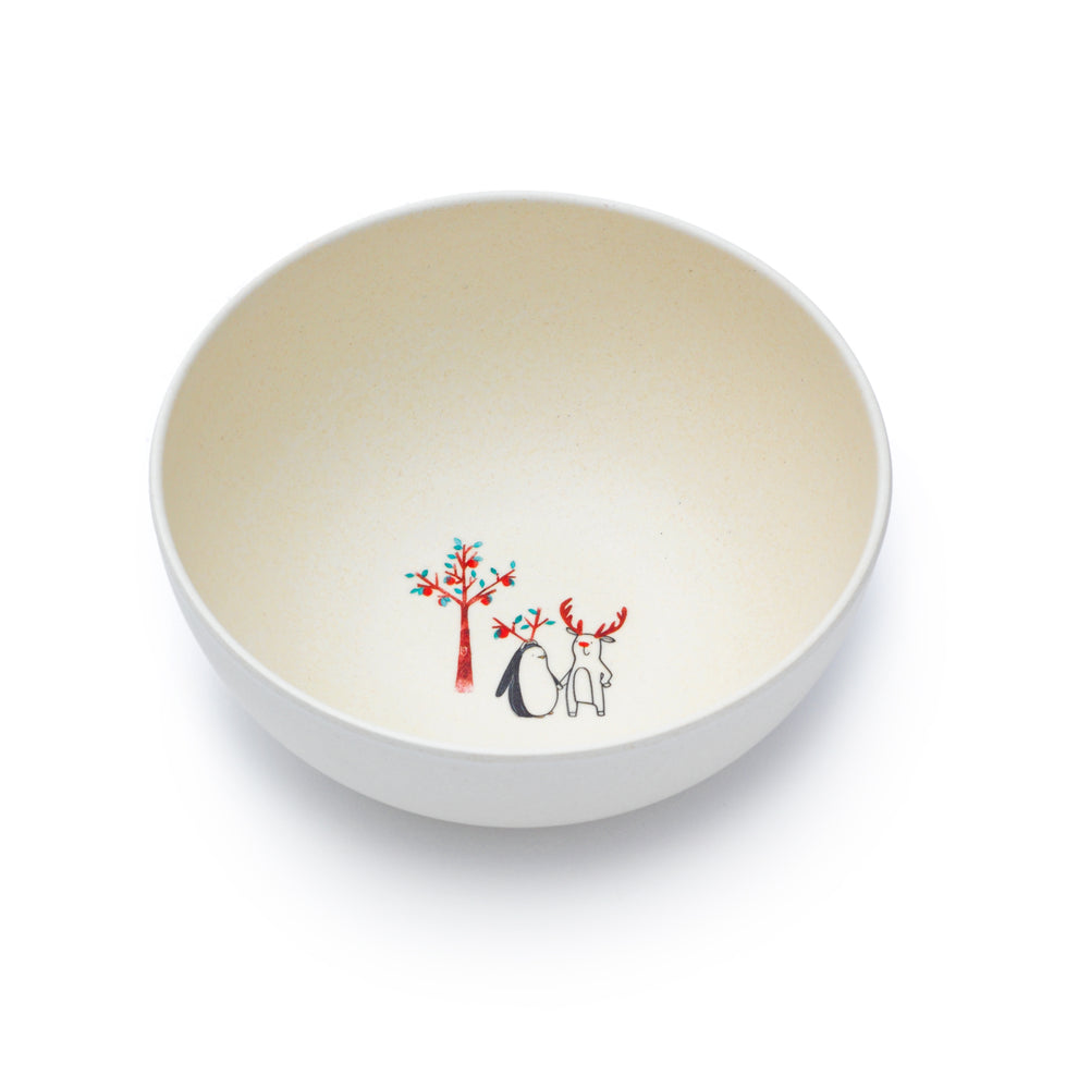Growing Apples Bamboo Bowl by Fable ILLUSTRATED COLLECTION