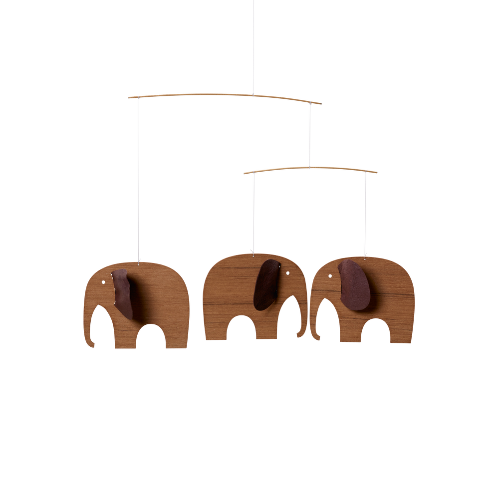 Load image into Gallery viewer, Baby Elephants 3, Mini Wood Mobile