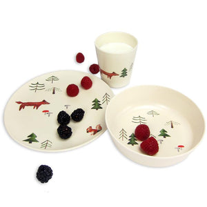 Forest Design Bamboo Tableware Set