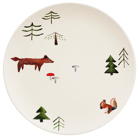 Forest Animals Bamboo Plate by Nuukk