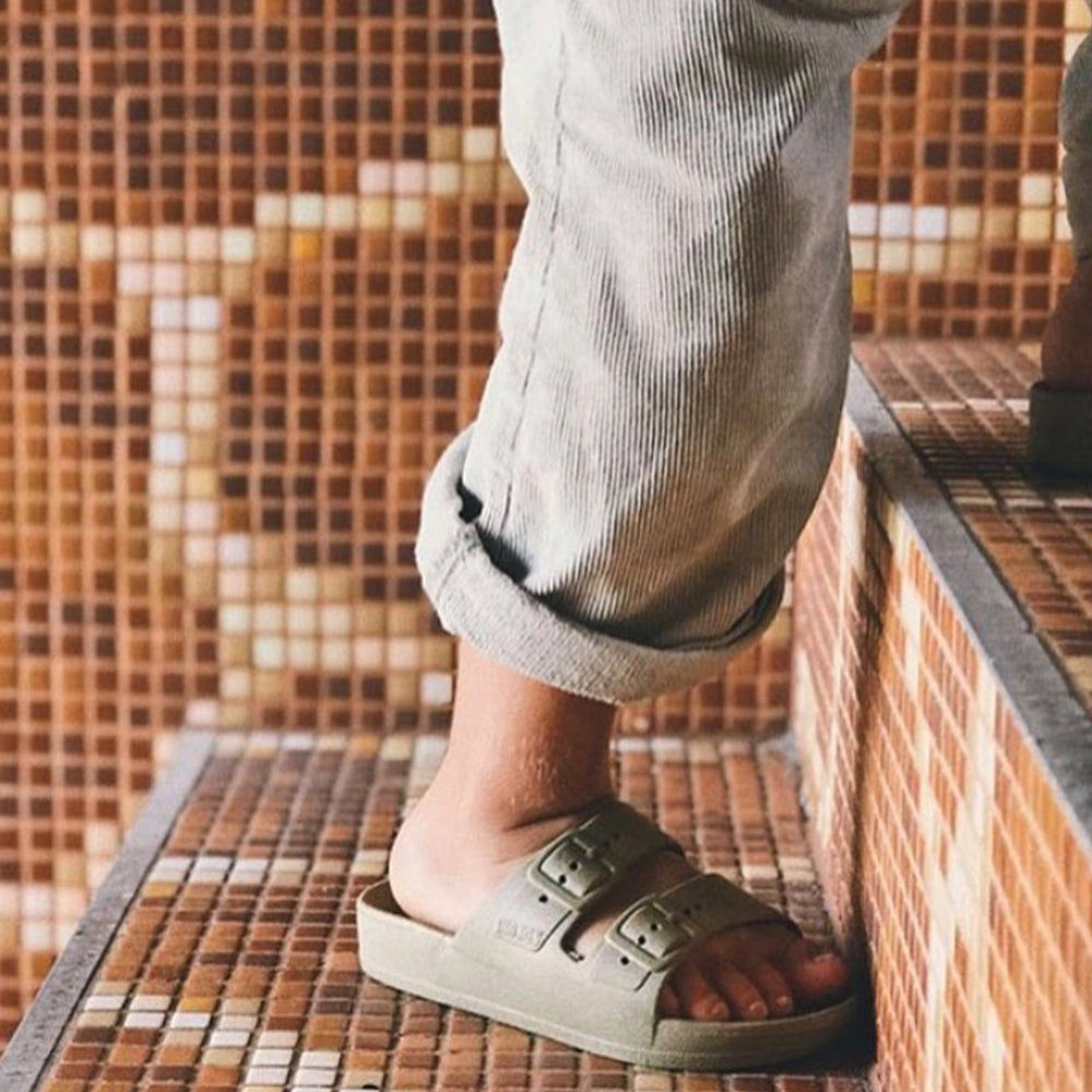 Slides in Khaki by Freedom Moses