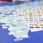 Giant Activity Sticker Poster - Flags of The World with 200 Repositionable Stickers by Poppik