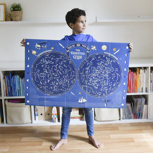 Giant Activity Sticker Poster - Sky Map Glow in the Dark with 640 Repositionable Stickers by Poppik