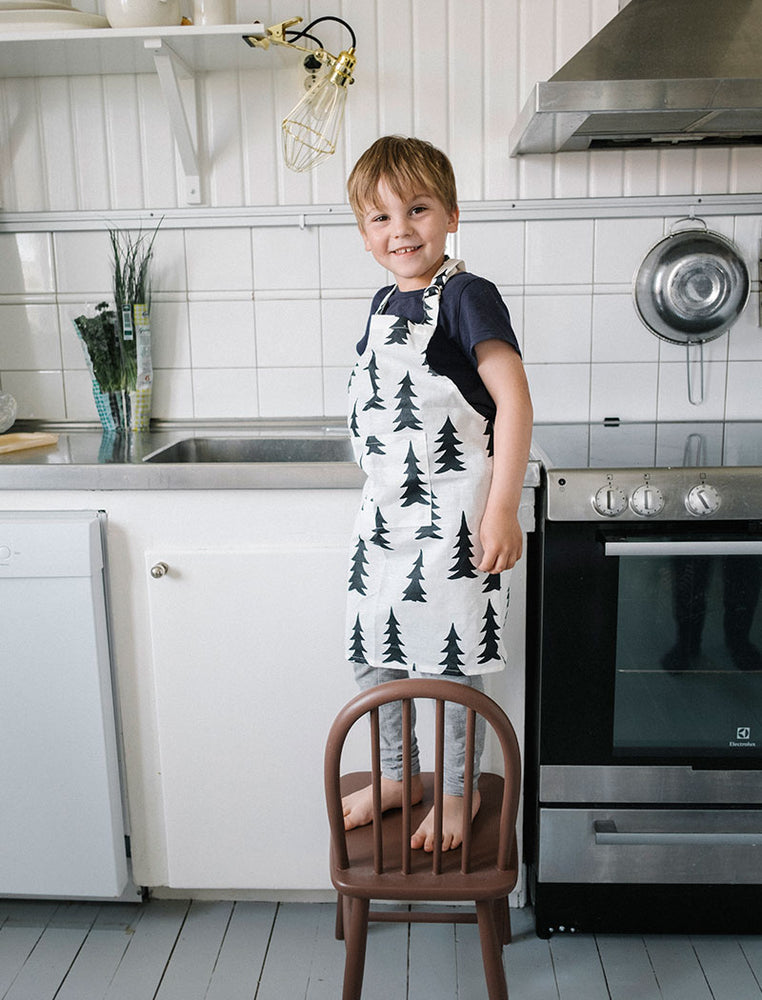 Gran Wax Child Apron in Black/White by Fine Little Day