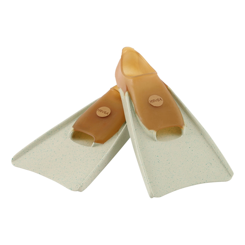 100% Pure Natural Rubber Fins in Mottled Minty Green