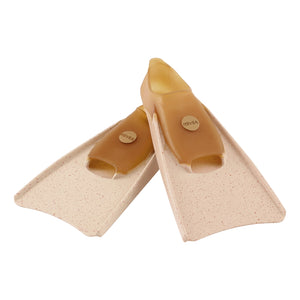 100% Pure Natural Rubber Fins in Mottled Peach