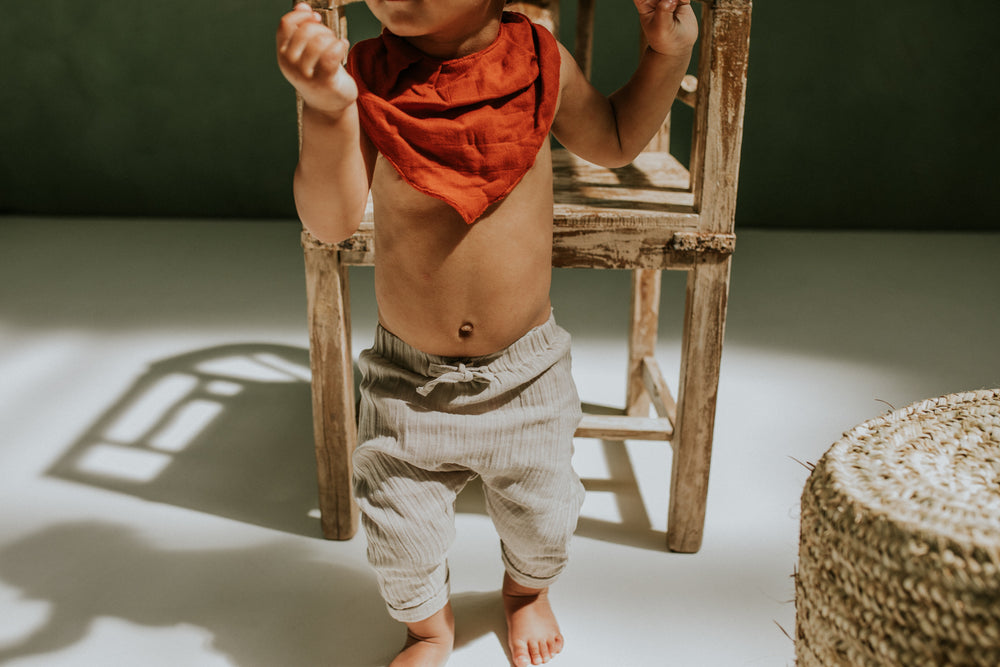 Load image into Gallery viewer, Reversible Organic Teething Bibs by Play at Slaep - Multiple Colours