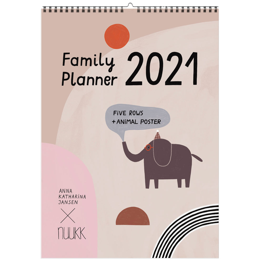 Happy - 2021 Family Calendar (with A Poster)