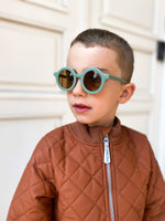 Sustainable Kids Sunglasses with Matte Finish in Fern by Grech & Co.