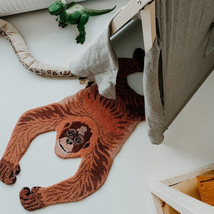 Load image into Gallery viewer, Oddly Orang Utan Wool Rug Small
