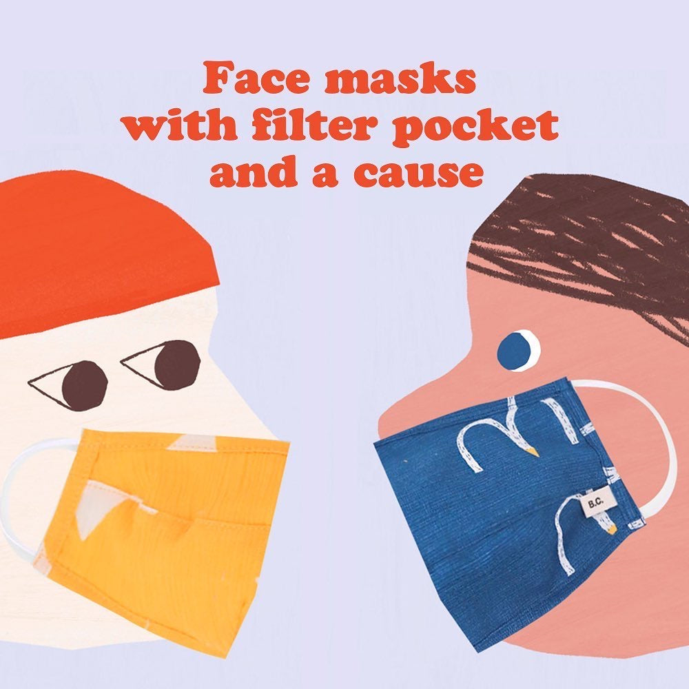 3-5 Years Stars Hygiene Face Mask (& 3 Filters)