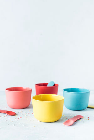 Bamboo Retro Ice Cream Set | Coral, Lagoon, Lemon, Tomato
