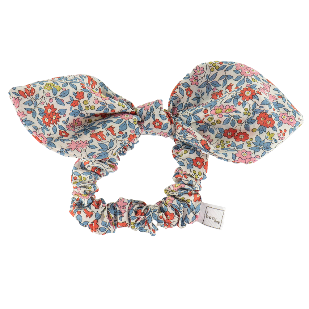Liberty Hair Bow in Chamomille Red by Bon Dep