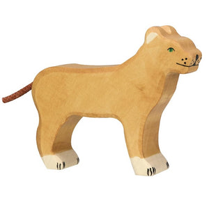 Lioness Wooden Figure by Holztiger