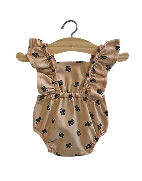 Load image into Gallery viewer, Lou Retro Cotton Romper in Latte for Gordis Dolls by Minikane