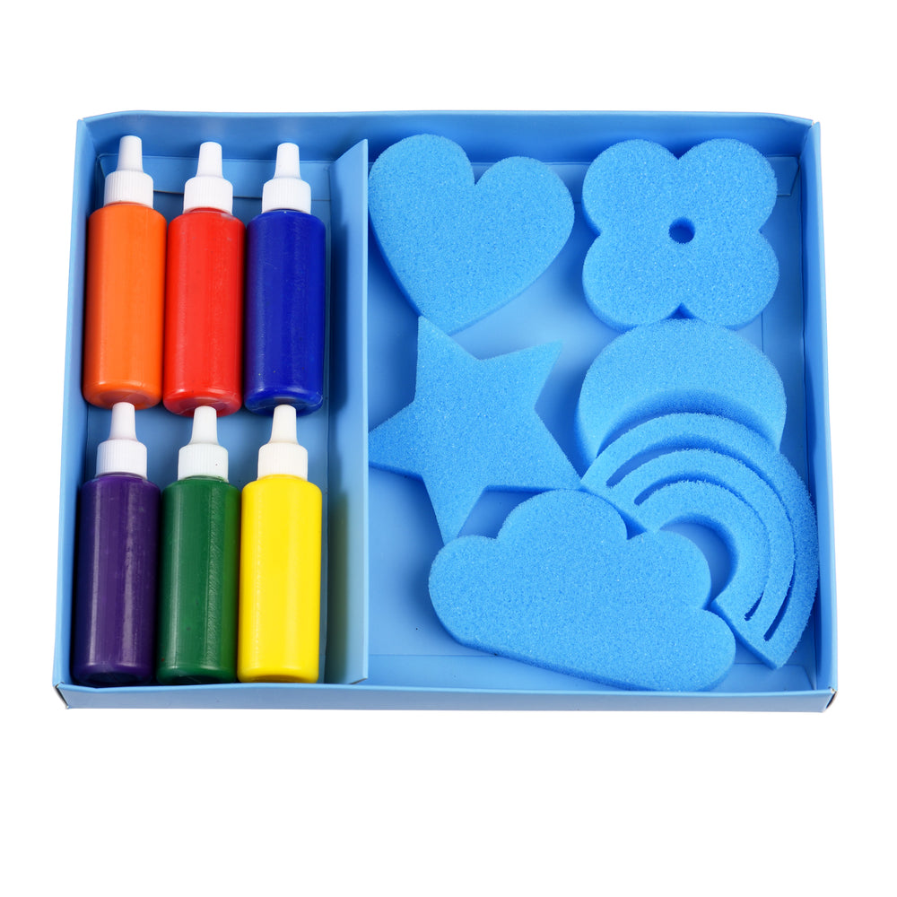 Magic Rainbow Sponge Painting Set