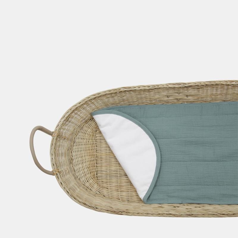 Changing Basket Luxe Organic Cotton Liner in Sage