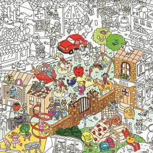 Giant Colouring Poster - Kids Life by OMY