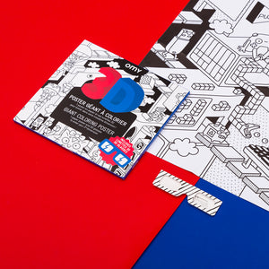 Giant Colouring Poster - 3D Video Game by OMY
